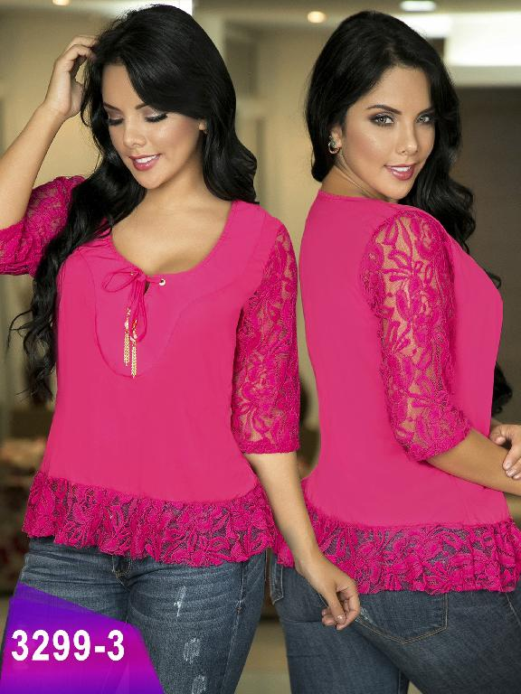 Blusa Moda Colombiana Thaxx  - Ref. 119 -3299-3 Fucsia