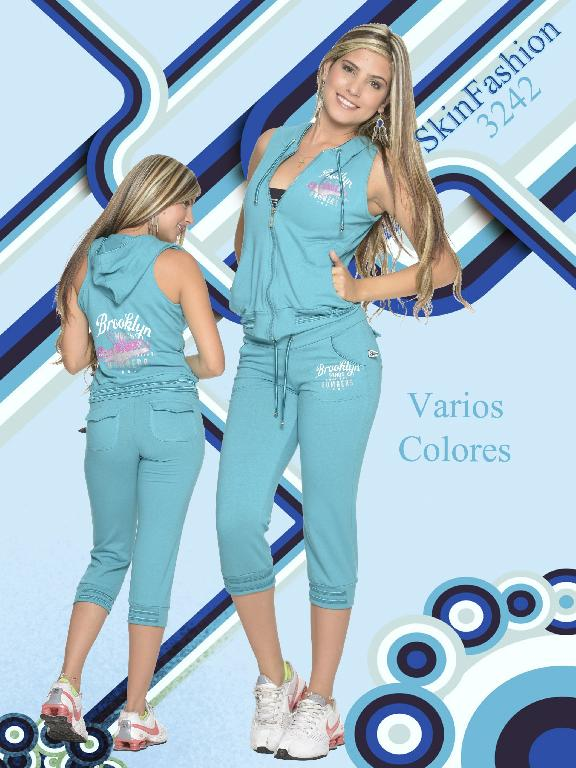 Conjunto Deportivo Skin Fashion - Ref. 118 -3242