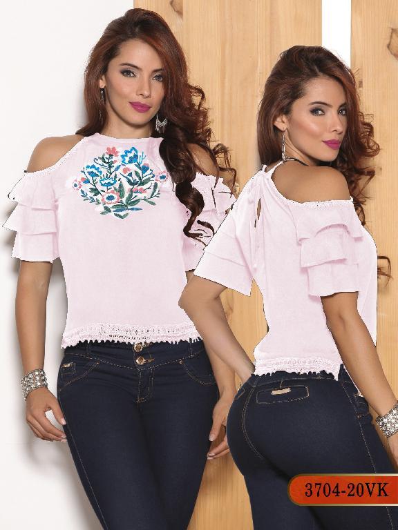 Blusa Moda Colombiana Vikats - Ref. 252 -3704-20 VK Rosado