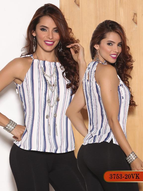 Blusa Moda Colombiana Vikats - Ref. 252 -3753-20 VK Rosada