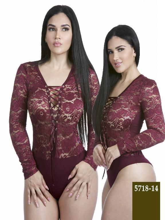 Colombian Body Fashion Red Wine Azulle  - Ref. 256 -5718-14 Vinotinto