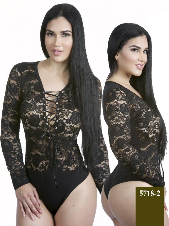 Colombian Sexy Bodysuit  Black Color Azulle Fashion - Ref. 256 -5718-2 Negro