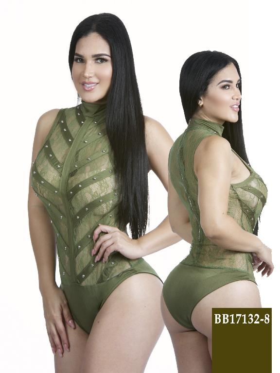 Colombian Sexy BodySuit Green Color Azulle Fashion - Ref. 256 -BB17132-8 Verde