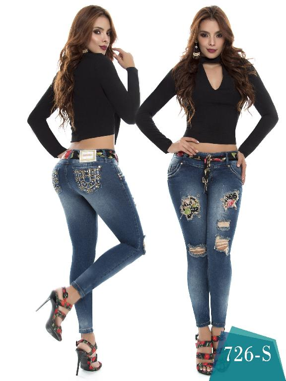 Jeans Levantacola Colombiano Duches  - Ref. 237 -726 S