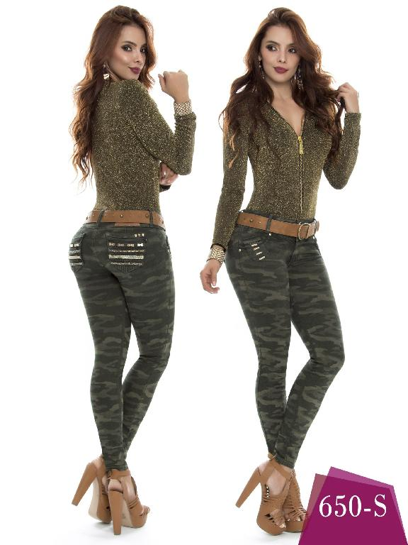 Colombian Jeans Butt Lifting Military Color  Duches  - Ref. 237 -650 S