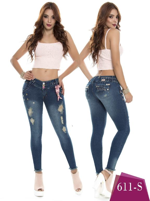 Colombian Jeans Butt Lifting Blue Color Duches  - Ref. 237 -611 S