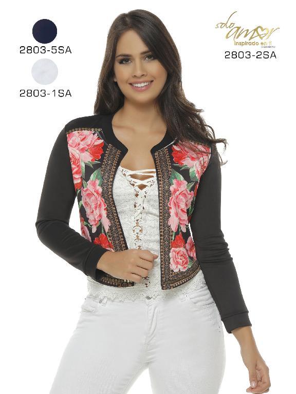 Chaqueta Moda Colombiana Solo Amor  - Ref. 246 -2803-1 Blanco