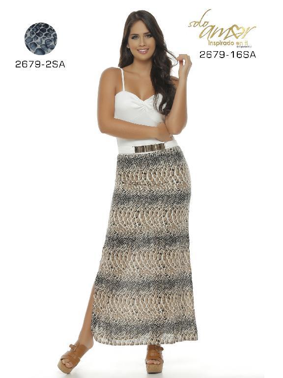 Vestido Moda Colombiano Solo Amor - Ref. 246 -2679-16 Beige