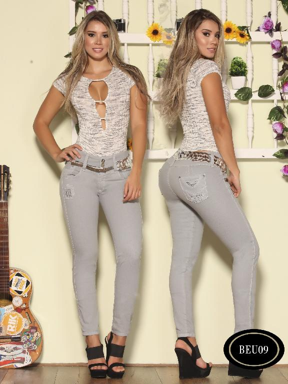 Colombian Jeans Butt Litfting Grey Color Bambu - Ref. 241 -BEU 09