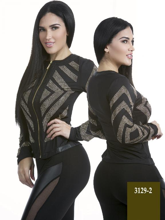 Colombian Elegant Fashion Black Jacket  Azulle  - Ref. 256 -3129-2 Negro