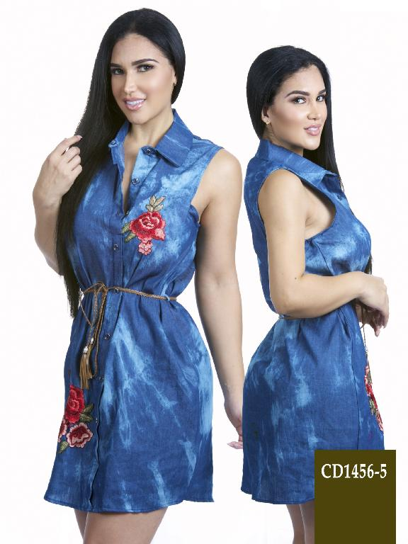 Vestido Moda  Azulle Fashion  - Ref. 256 -CD1456-5 Azul