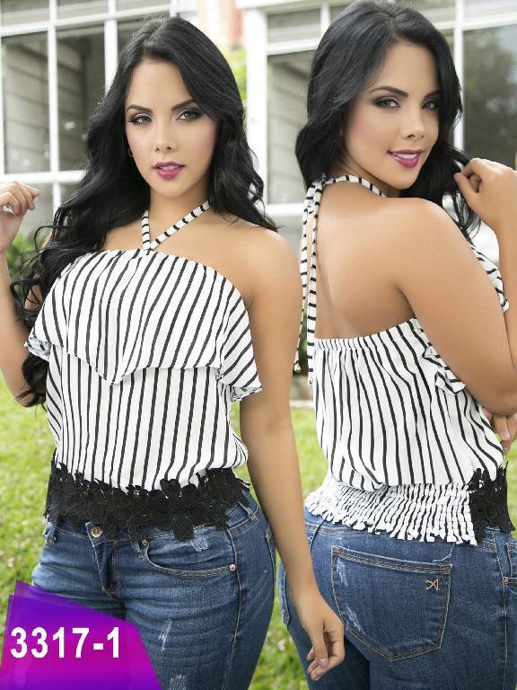 Blusa Moda Colombiana Thaxx  - Ref. 119 -3317-1 Negro