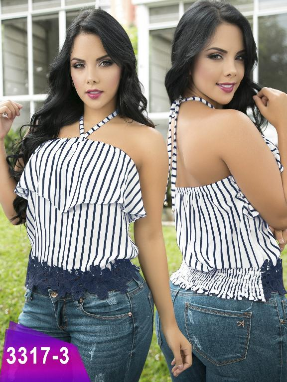Blusa Moda Colombiana Thaxx  - Ref. 119 -3317-3 Azul
