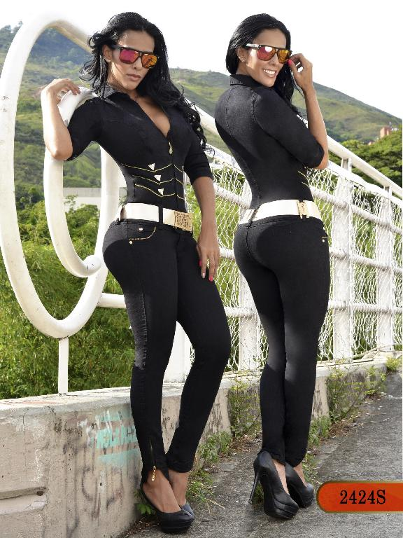 Colombian Sexy Jumpsuit Black Color  Scorpion - Ref. 255 -2424 S