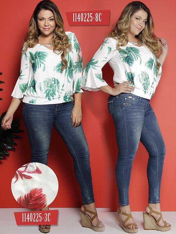 Blusa Moda Colombiana Colors - Ref. 254 -1140225-3C Rojo