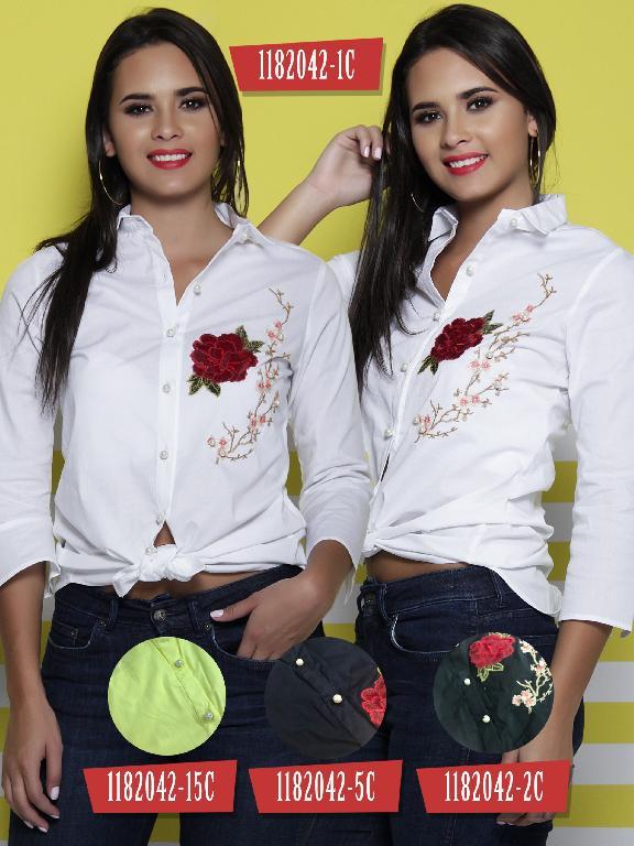 Blusa Moda Colombiana colors  - Ref. 254 -1182042-15C Amarillo