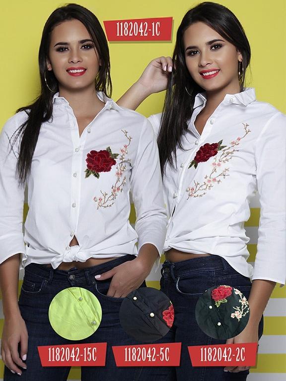 Blusa Moda Colombiana Colors  - Ref. 254 -1182042-5C Azul