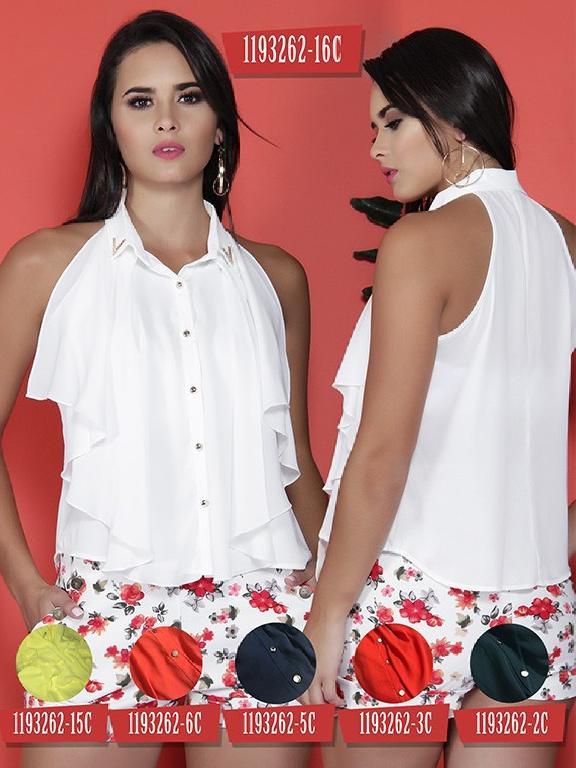 Blusa Moda Colombiana Colors  - Ref. 254 -1193262-5C Azul