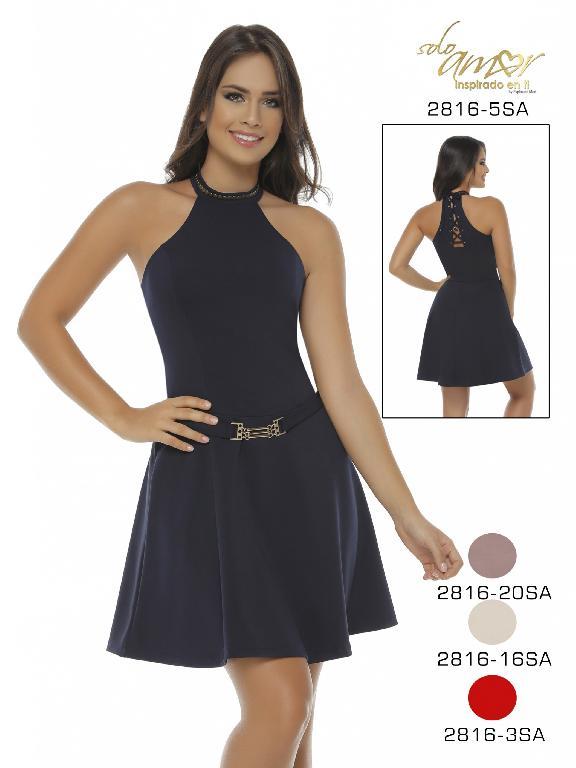 Vestido Moda Colombiana Solo Amor - Ref. 246 -2816-5 Azul