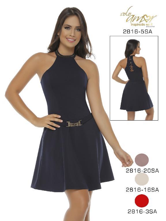 Vestido Moda Colombiana Solo Amor - Ref. 246 -2816-20 Rosado
