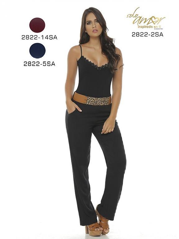 Enterizo Moda Colombiana Solo Amor - Ref. 246 -2822-14 Vinotinto