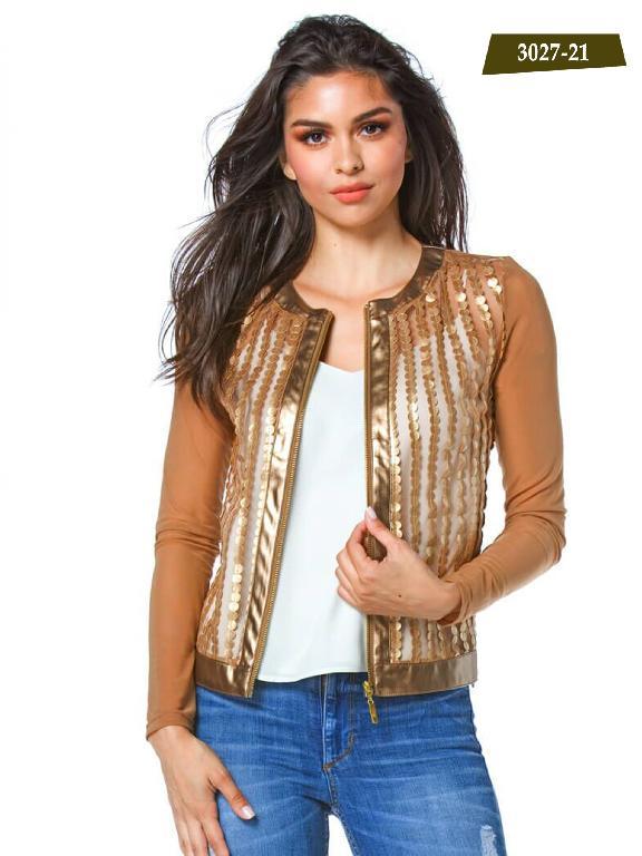 Chaqueta Moda Azulle Fashion  - Ref. 256 -3027-21 Dorado