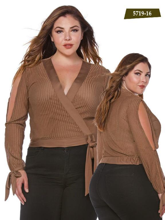 Blusa Moda Azulle Fashion - Ref. 256 -5719-16 Beige