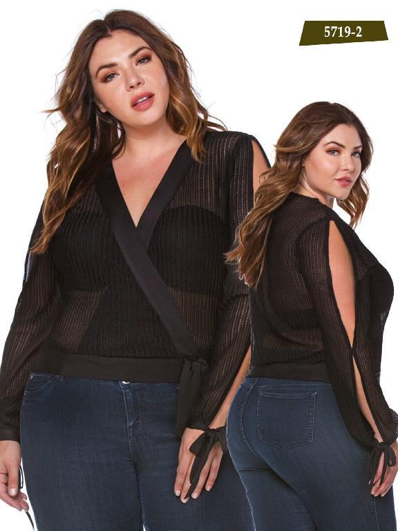 Blusa Moda Azulle Fashion - Ref. 256 -5719-2 Negro