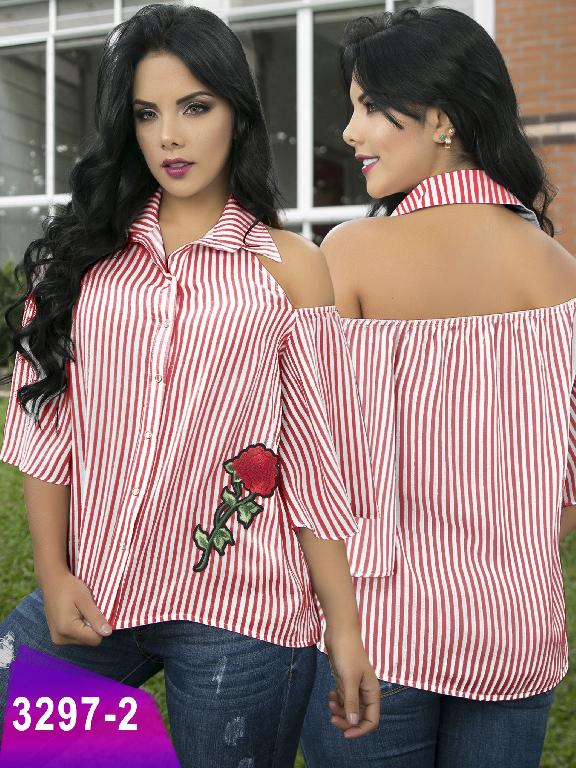 Blusa Moda Colombiana Thaxx  - Ref. 119 -3297-2 Rojo