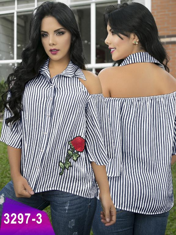 Blusa Moda Colombiana Thaxx  - Ref. 119 -3297-3 Azul