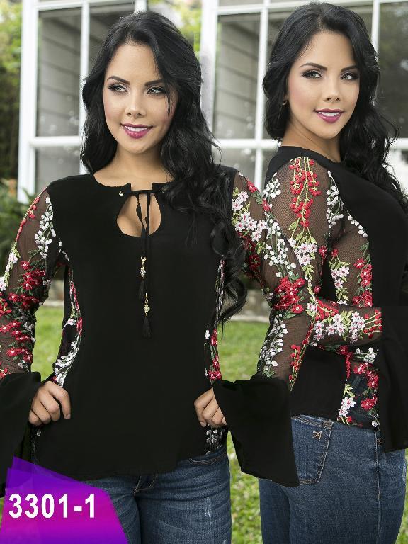 Blusa Moda Colombiana Thaxx  - Ref. 119 -3301-1 Negro