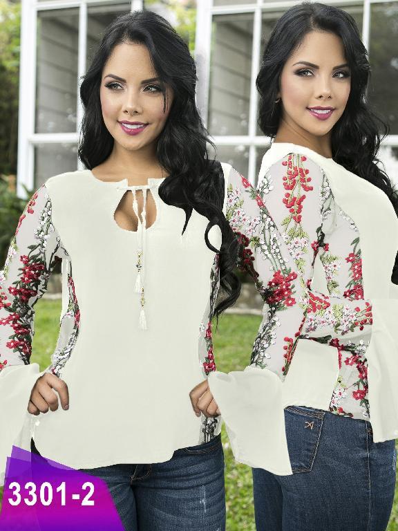 Blusa Moda Colombiana Thaxx  - Ref. 119 -3301-2 Beige