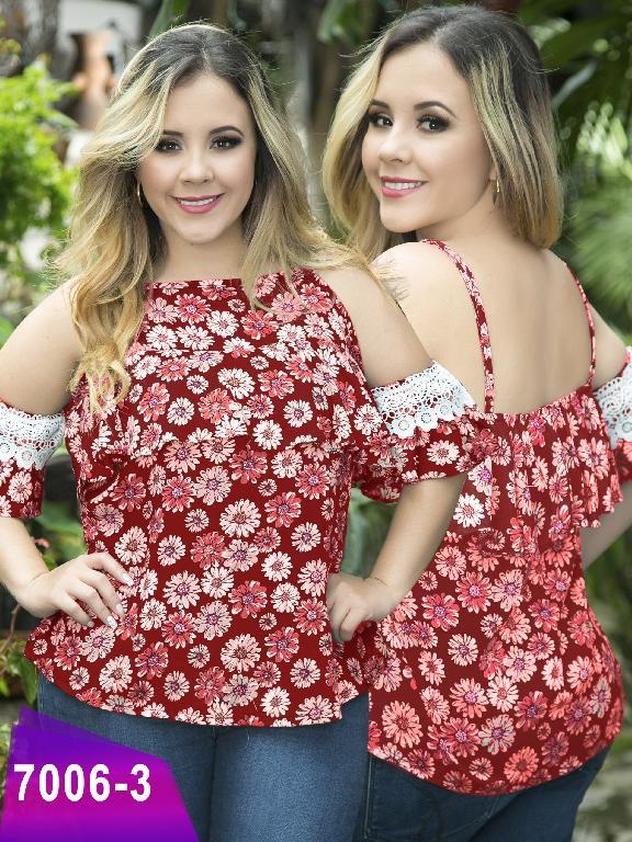 Blusa Moda Colombiana Thaxx Size Plus - Ref. 119 -7006-3 Rojo