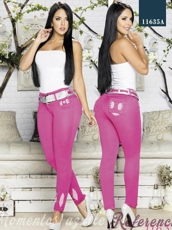 Colombian Jeans Butt Liftting Pink Color Azulle - Ref. 232 -11635 AZ