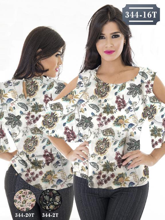 Blusa Moda Colombiana Tabbachi - Ref. 236 -344-2T Negro