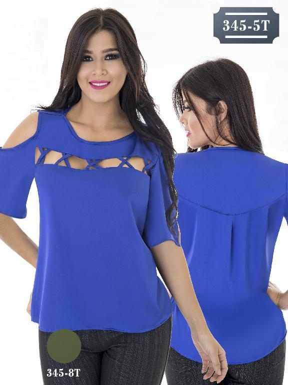 Blusa Moda Colombiana Tabbachi - Ref. 236 -345-5T Azul