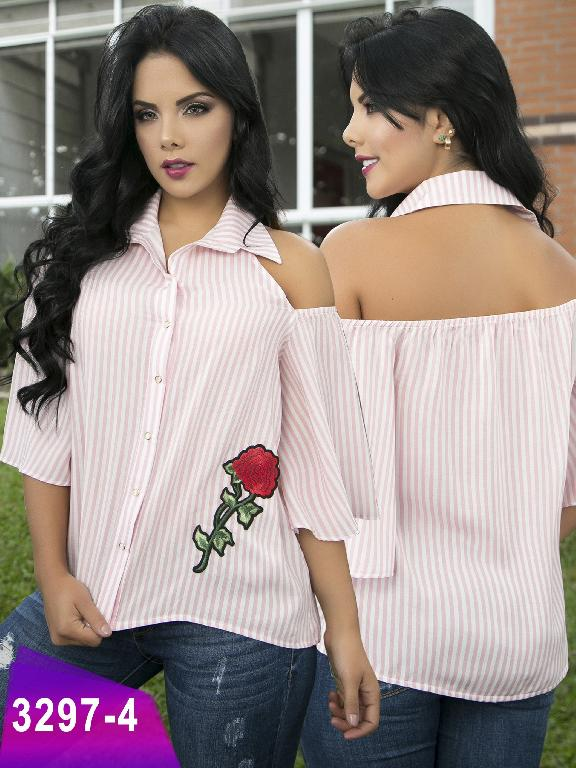 Blusa Moda Colombiana Thaxx  - Ref. 119 -3297-4 Rosado