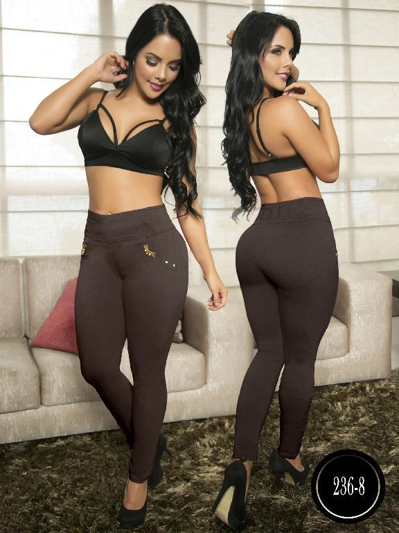 Pantalon Casual Comfort Thaxx - Ref. 119 -236-8 Marron
