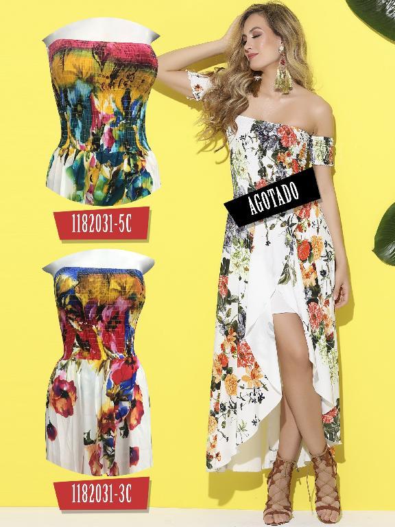 Vestido Moda Colombiana Colors - Ref. 254 -1182031-3C Rojo