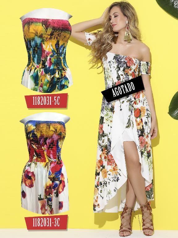 Vestido Moda Colombiana Colors - Ref. 254 -1182031-5C Azul