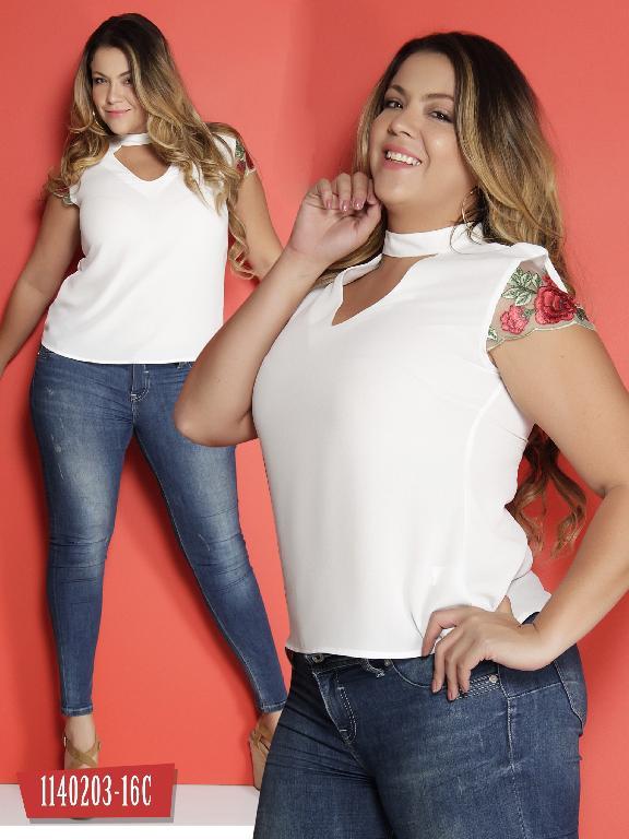 Blusa Moda Colombiana Colors - Ref. 254 -1140203-16C Beige