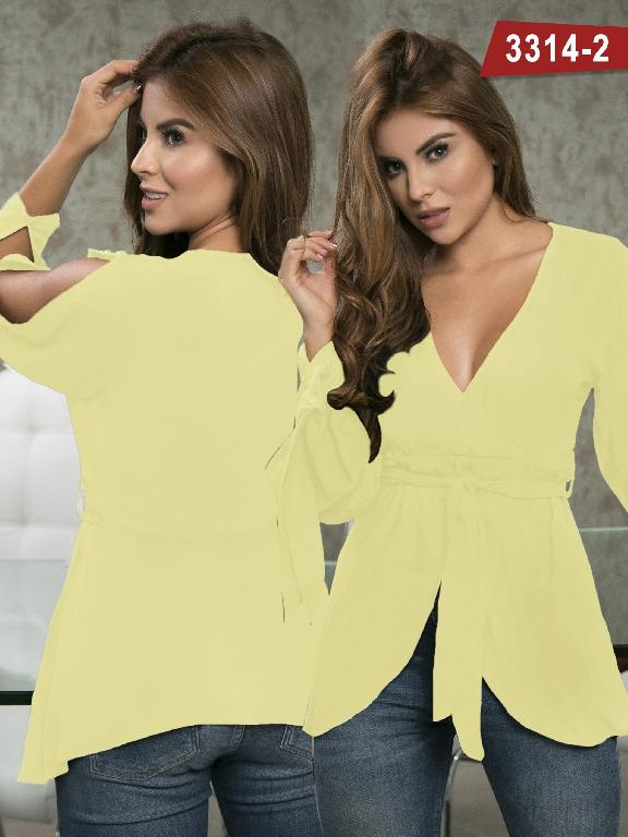 Blusa Moda Colombiana Thaxx  - Ref. 119 -3314-2 Amarillo