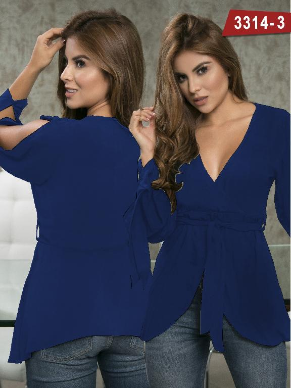 Blusa Moda Colombiana Thaxx  - Ref. 119 -3314-3 Azul