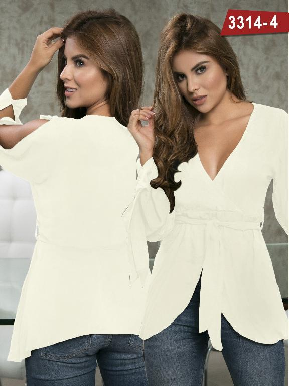 Blusa Moda Colombiana Thaxx  - Ref. 119 -3314-4 Beige