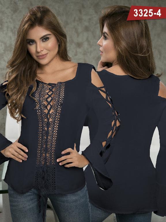 Blusa Moda Colombiana Thaxx  - Ref. 119 -3325-4 Azul