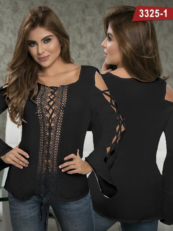 Blusa Moda Colombiana Thaxx  - Ref. 119 -3325-1 Negro