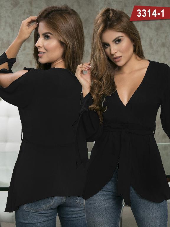 Blusa Moda Colombiana Thaxx  - Ref. 119 -3314-1 Negro
