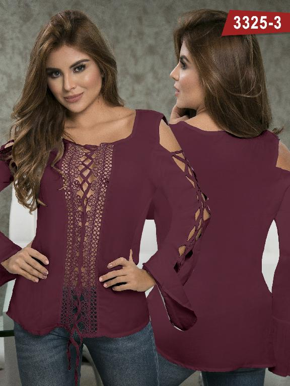 Blusa Moda Colombiana Thaxx  - Ref. 119 -3325-3 Vinotinto