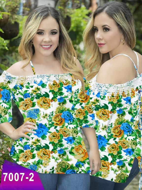 Blusa Moda Colombiana Thaxx Size Plus - Ref. 119 -7007-2 Verde