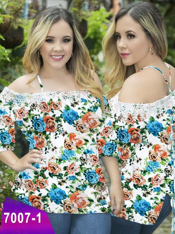 Blusa Moda Colombiana Thaxx Size Plus - Ref. 119 -7007-1 Naranja